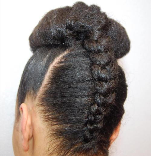 Crno Upside Down Braid And Bun
