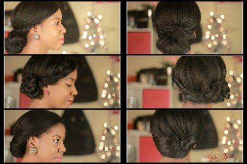 lijep low updos for black women