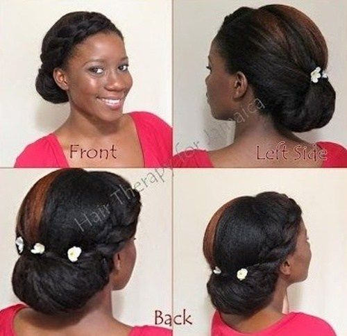 pleteni bun updo hairstyle for black women