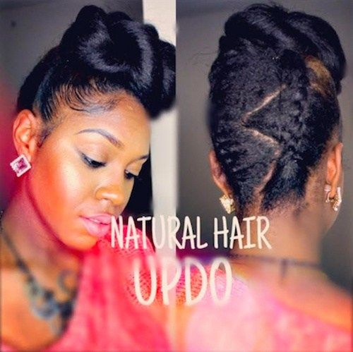 fantazija updo hairstyle for black women