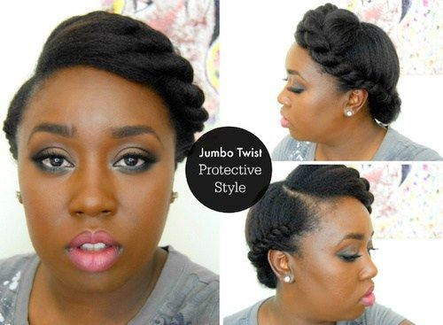 uvrnut updo hairstyle for black women