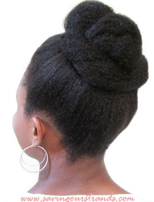 vrh knot updo hairstyle for black women