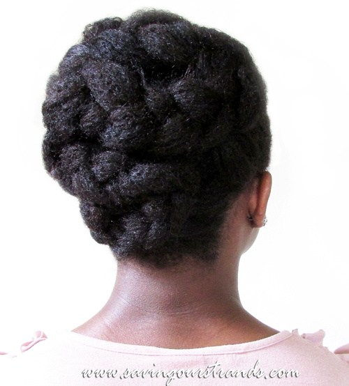 pleteni updo hairstyle for black women