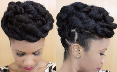 sofisticirana updo hairstyle for black women