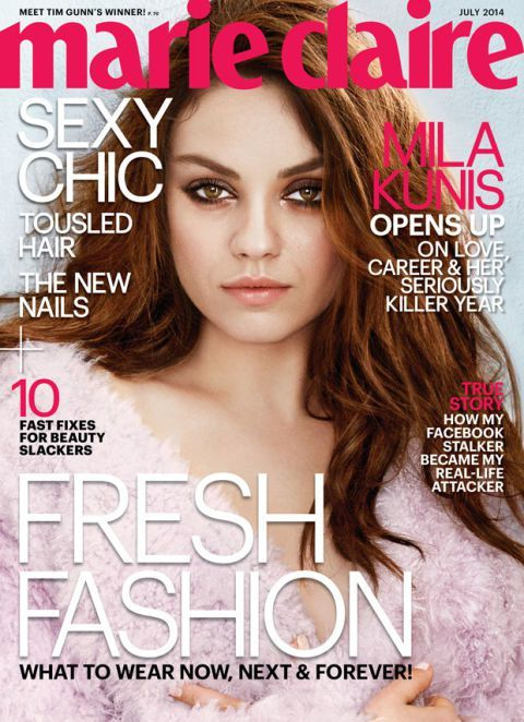 mila kunis on the cover of marie claire july 2014