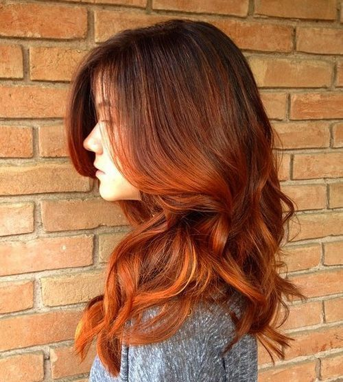 mrak brown to red ombre