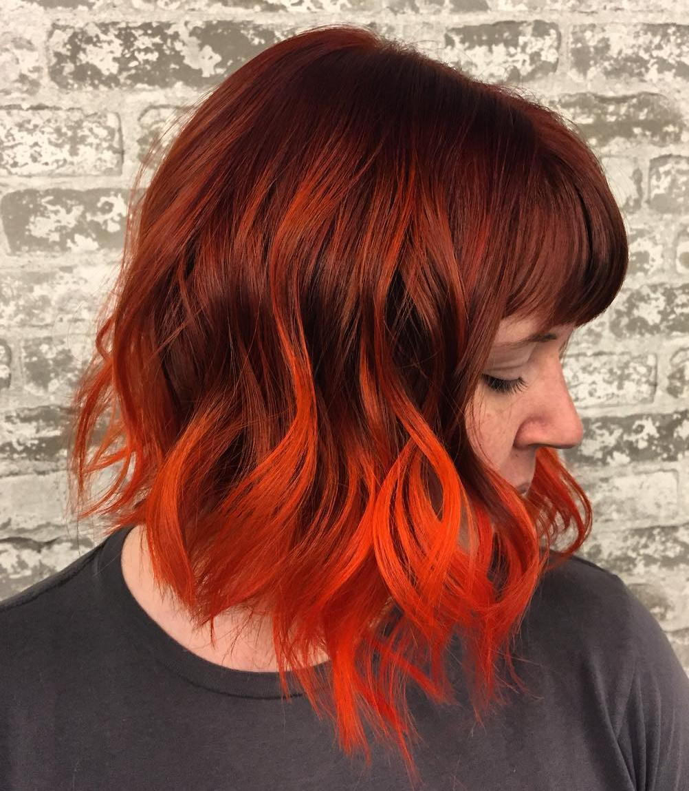 crvenkastosmeđ Hair With Orange Balayage