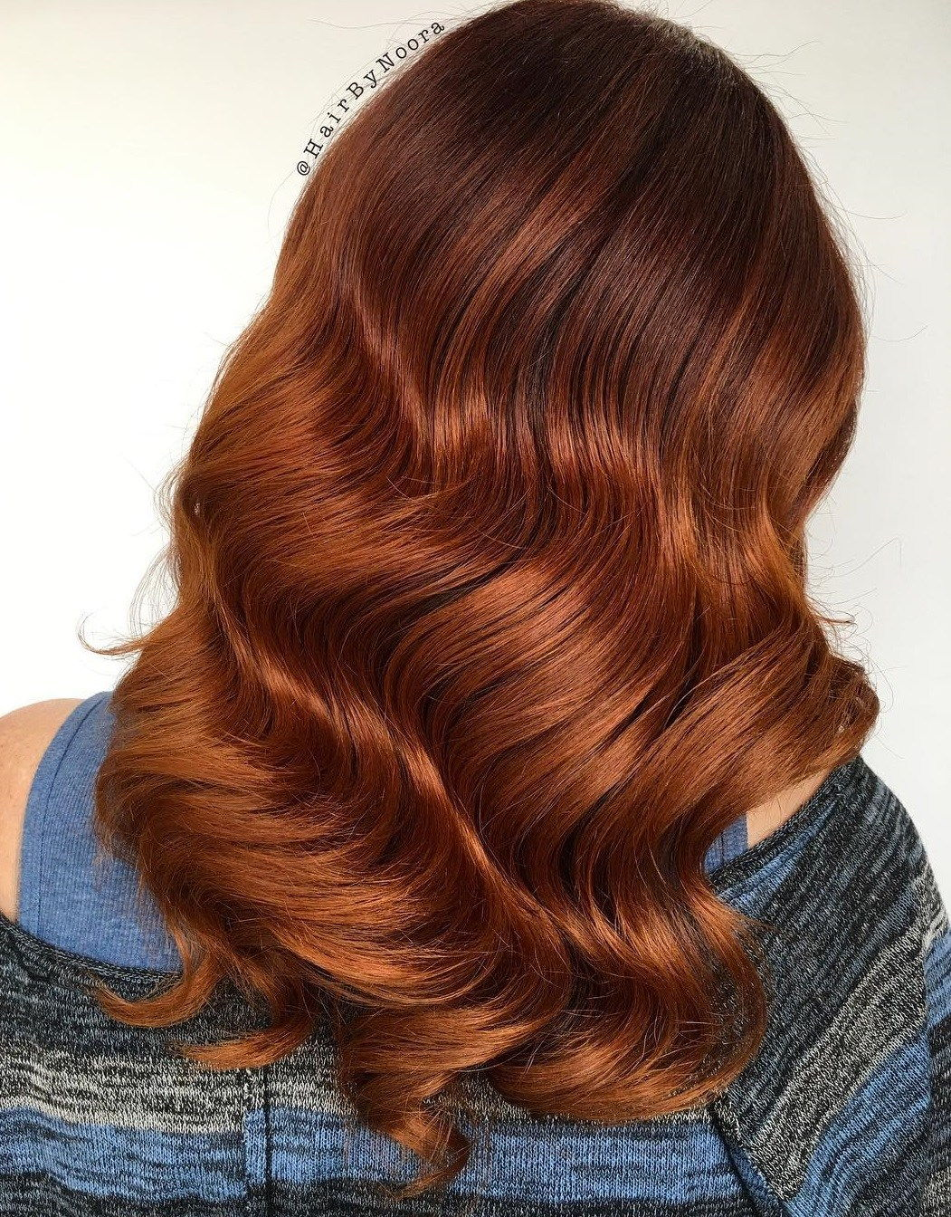 dugo Copper Red Balayage Hair