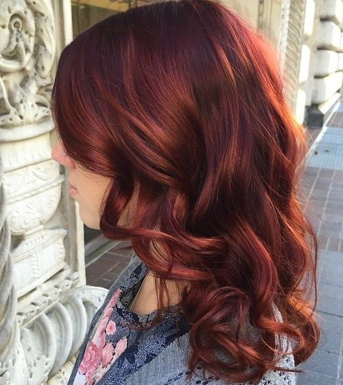 dugo copper red hairstyle with bangs