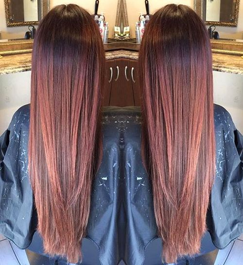 dugo reddish brown ombre