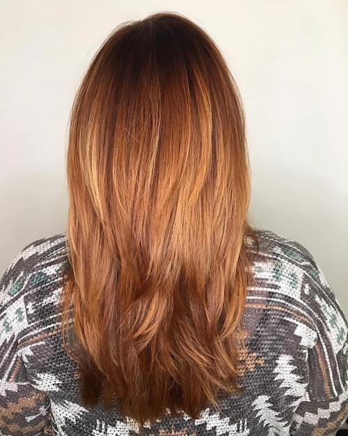 ravno red hair with ombre highlights