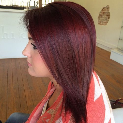 burgundac hair color
