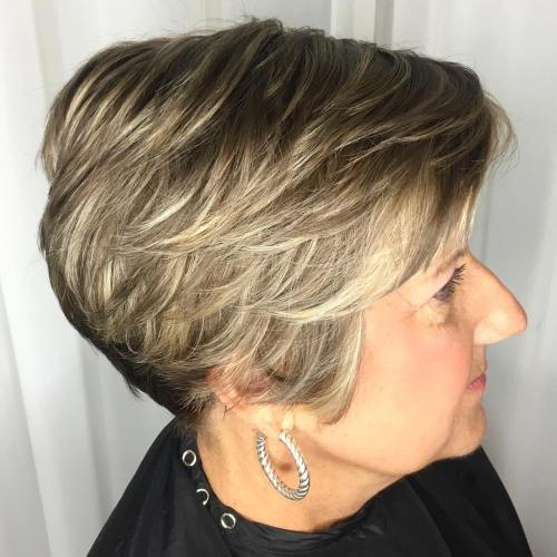 kratak hairstyle with bangs for women over 60