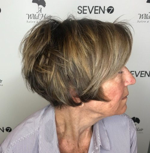 Slojeviti Pixie Bob With Highlights