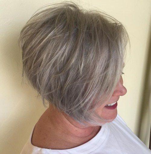 Kratak Tousled Gray Brown Hairstyle