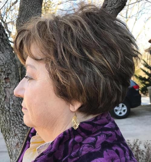 Kratak Layered Tousled Hairstyle Over 60