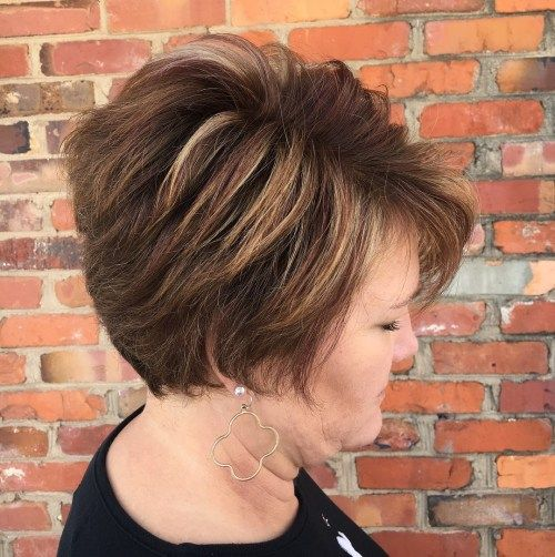 dugo Brown Pixie Hairstyle With Highlights