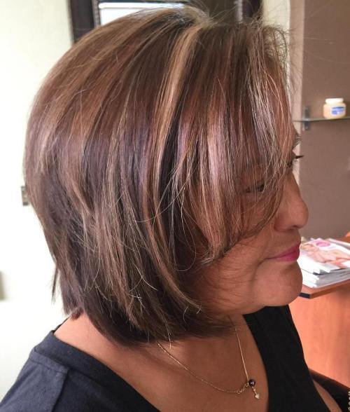 starije Women's Brown Bob With Highlights