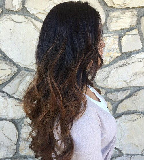 Ruda Balayage Ombre For Black Hair