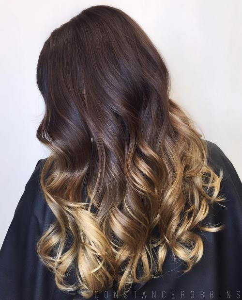 Ruda Hair With Golden Blonde Ombre