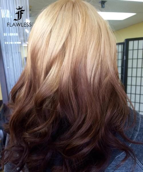 Atvirkštinis Blonde To Brown Ombre
