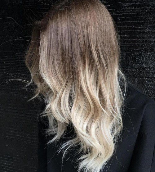 Ruda To Blonde Ombre For Layered Hair