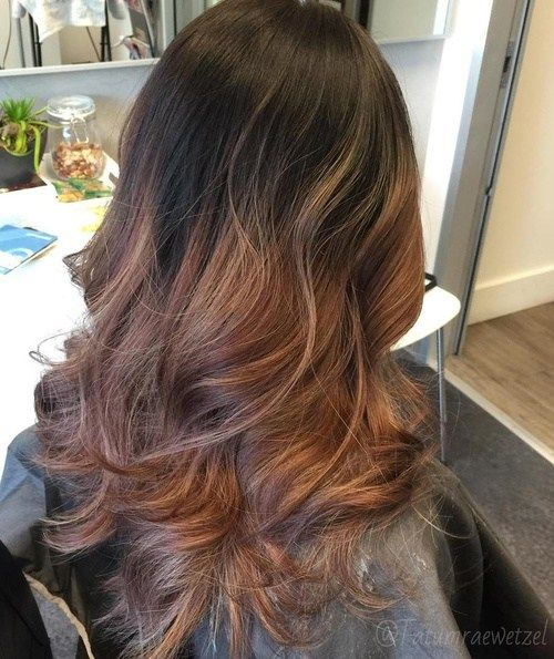 Juoda To Brown Ombre