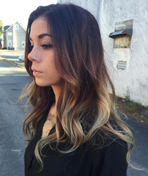 Ruda And Blonde Balayage For Black Hair