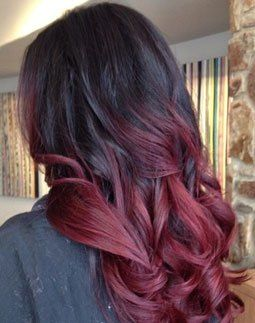 juoda into red ombre