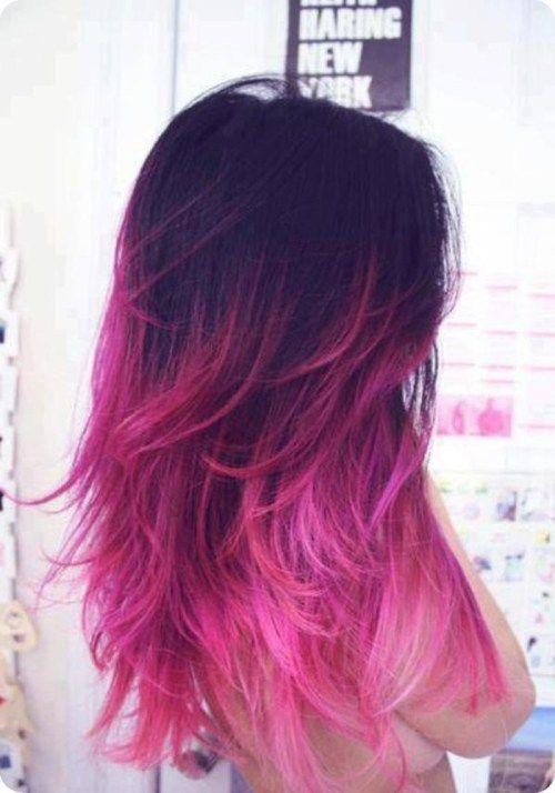 juoda to pink ombre