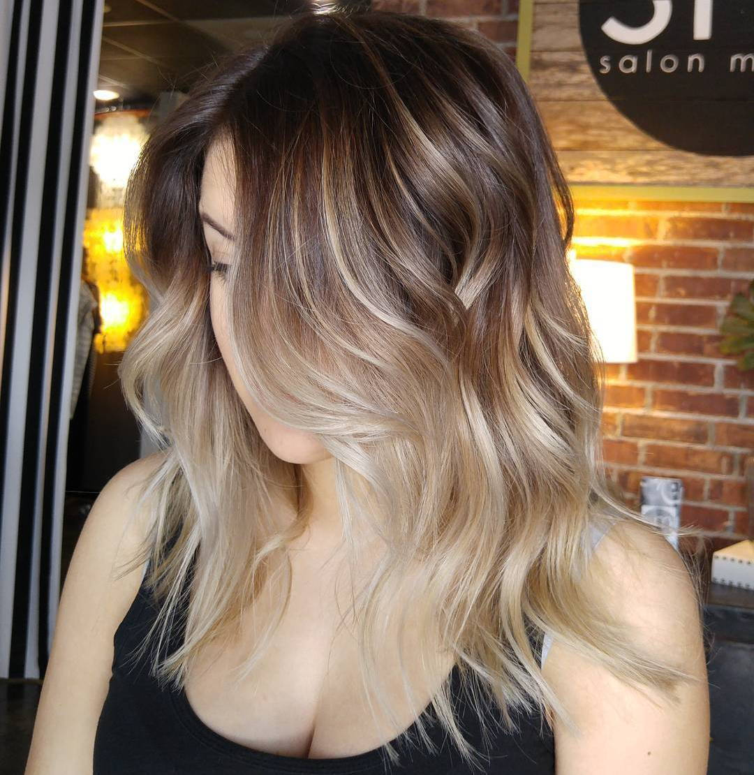 Minkštas Brown Ombre With Highlights