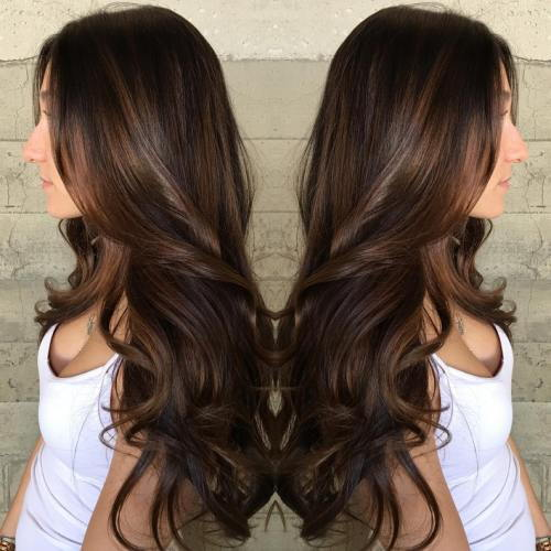 Long Brown Hair With Subtle Balayage