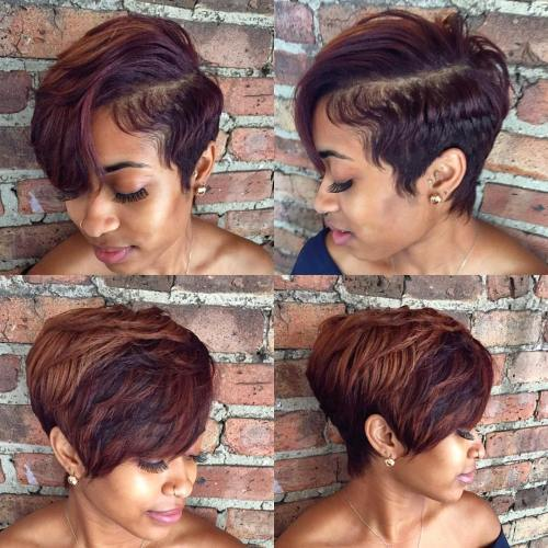 afrički American Tapered Pixie With Bangs