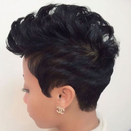 Crno Mohawk Pixie Hairstyle