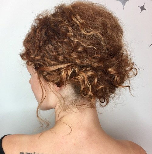 Let Messy Curly Updo