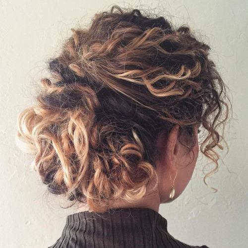 Rodet Updo For Curly Hair