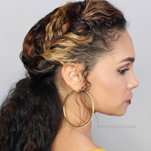 krone Twist And Low Pony For Curly Hair