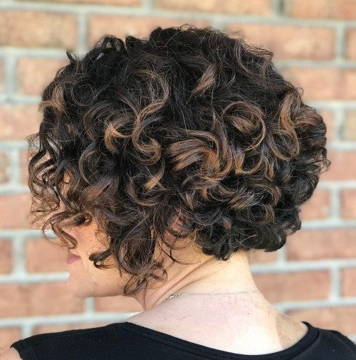 Kort Bob Hairstyle For Curly Hair
