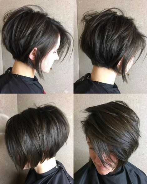 Kort Layered Brunette Bob