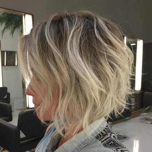 Ispucao Blonde Bob With Root Fade