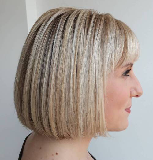 Tup Blonde Bob With Bangs