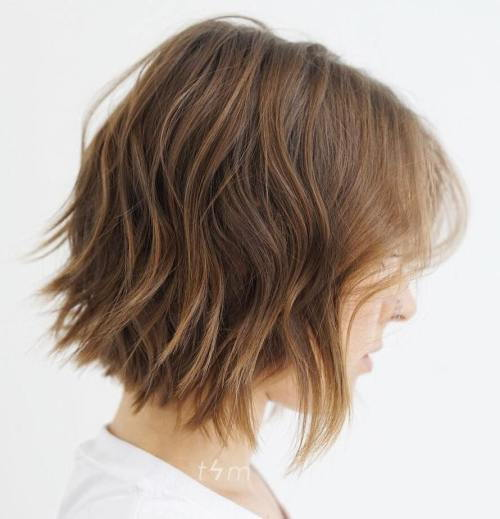 uzburkan Wavy Bob For Fine Hair