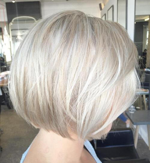 Pepeo Blonde Bob With Platinum Highlights