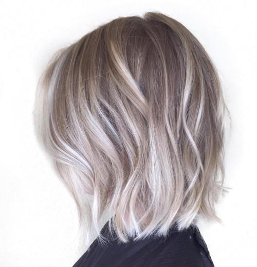 Pepeo Blonde Bob With Platinum Balayage