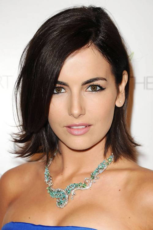 Camilla Belle bob haircut