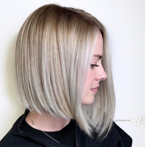Pepeo Blonde Angled Bob For Straight Hair