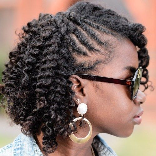 prirodni hairstyle with twists and curls