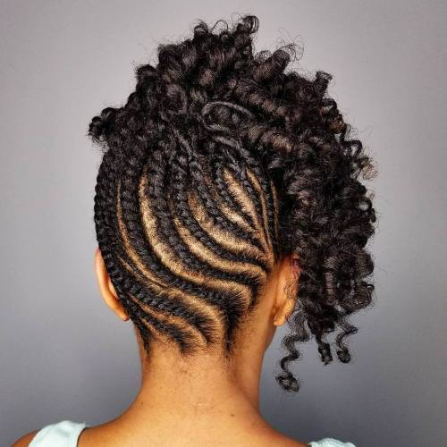 Ravan Twists And Curls Updo For Natural Hair