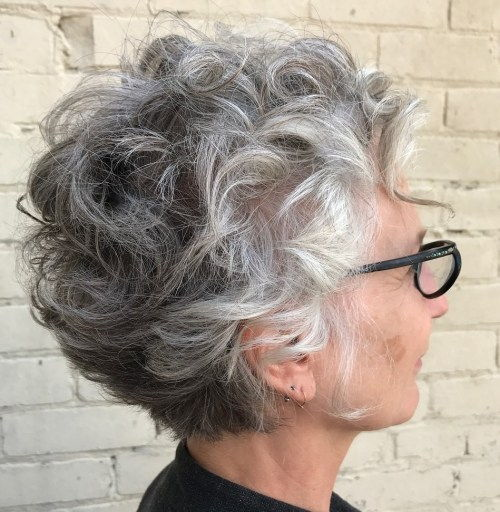 Garbanotas Gray Hairstyle For Older Women