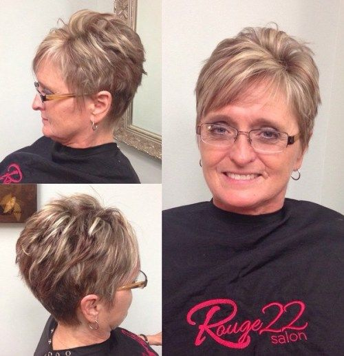 Ruda Pixie With Blonde Highlights